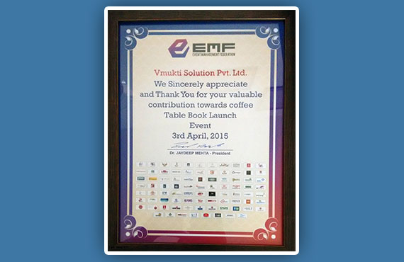 EMF Book Launch Event Award 2015