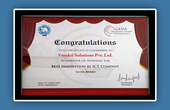 GESIA Best Innovation by ICT Company