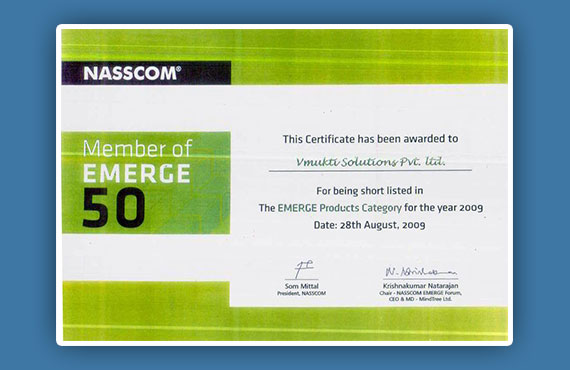NASSCOM Emerge 50 2009