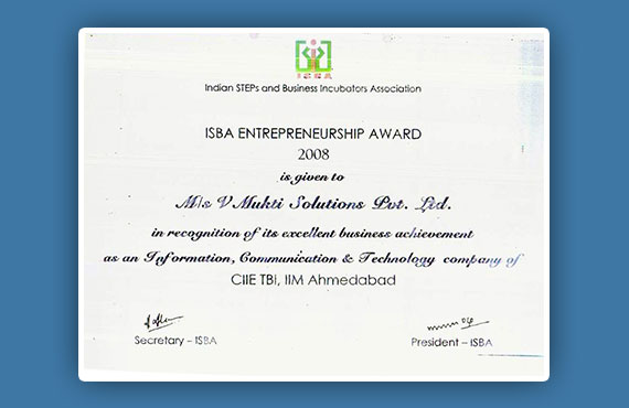 ISBA Entrepreneurship Award 2008
