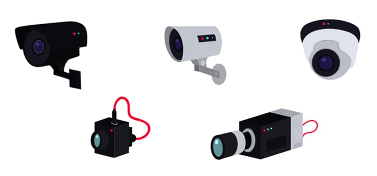 What are the types of home security systems?